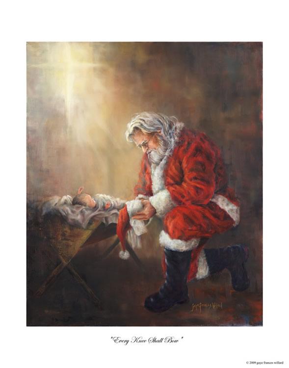 Santa-kneeling